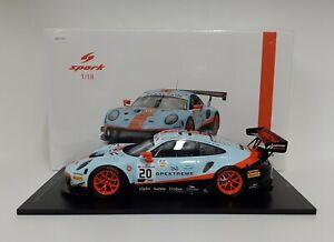 Spark 1/18 Modelo Auto Porsche 911 GT3 Winner 24H Spa 2019 Modelismo Estático