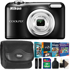 Nikon Coolpix A10 16MP Digital Camera Black w/ Kids Photo Editing Collection Kit