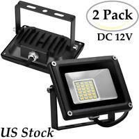 2X 20W LED Flood Light Spotlight Warm White Shop Street Security Fixtures DC 12V