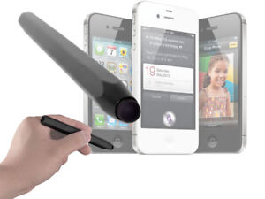 Large Easy Grip Black Stylus Touchscreen Pen For Apple iPhone 4S With Soft Tip