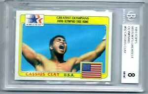 Beckett BGS 8 NM - MINT 1983 Topps Olympic Boxing Cassius Clay Muhammad Ali Card