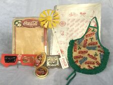 Lot of 8 Coca Cola/Coke Collectibles: Notebook, Erase-a-Board, 3-D Glasses, More