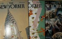 Lot of Three 1995 New Yorker Magazine. Oct, May, Dec