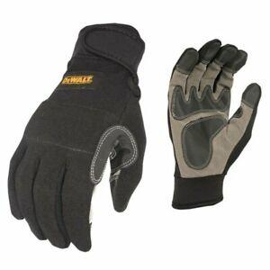 DeWalt SecureFit General Utility Work Glove, Black/Gray, Medium #DPG217M