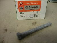 25-Pack 1//2 x 5-1//2-Inch The Hillman Group 812102 Hot Dipped Galavanized Hex Lag Screw