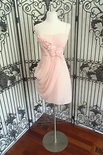 A837 BCBG IL6M309 PETAL PINK $335 SZ 4 COCKTAIL PARTY HOMECOMING GOWN DRESS
