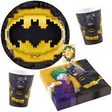 Lego Batman Movie Partyset 52tlg. Teller Becher Servietten für 16 Kids