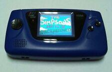 Sega Game Gear Blue REFURBISHED w/ Bart Simpson vs Space Mutants