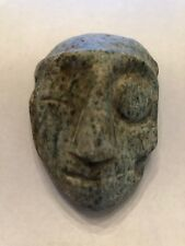 "Pre-Columbian Zultepec ""Life / Death Duality"" Stone Pendant Mask 300 - 100 BC"