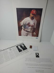 Albert Pujols Foundation 07 Signed autographed print 386/700 Cardinals Baseball