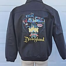 Disneyland 50th Anniversary Leather Bomber Jacket - Limited Edition Size Large