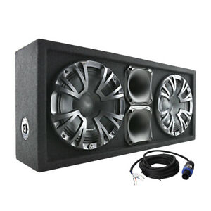 "Audiopipe APCHU82 Dual 8"" Subwoofer Enclosure  500W Max"