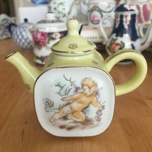#24  Sevres style - The Miniature Teapot - Mini Teapot by Porcelain Art