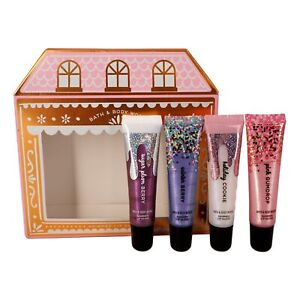 CHRISTMAS SWEETS Shimmer Lip Gloss Set, Pack of 4 Shimmer Lip Gloss