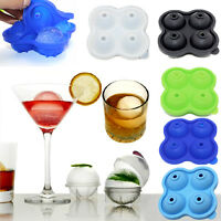 Whiskey Ice Cube Ball Maker Mold Sphere Mould Brick Party Tray Round Bar