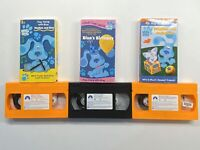 Blue's Clues VHS lot Playtime With Periwinkle, Rhythm & Blue, Blue's B-Day OOP!!