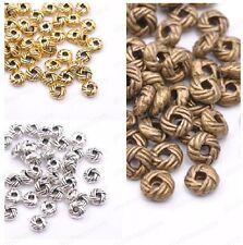 100Pcs Tibetan Silver Rondelle Charm Space Beads JK391