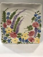 """Gorgeous Hand Painted & Hand Crafted Tabletops Gallery """"Jardine"""" Serving Platter"""