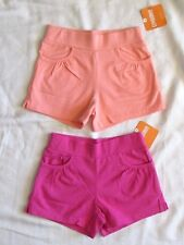 GYMBOREE Knit Bike Shorts Summer 17 Pink & Sherbet orange Set of 2 NEW Sz M 7 8