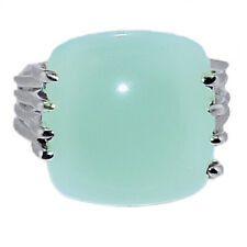 Aqua Chalcedony 925 Sterling Silver Jewelry Ring s.8.5 AR183210