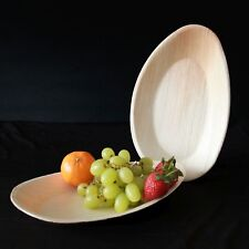 Palm Leaf Plate- 10 x 6 inch Oval , Eco Friendly, Compostable Disposable Plate
