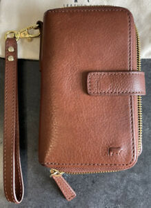 Will Leather Goods Large Wallet Or Clutch- Brown