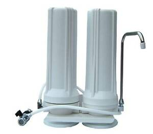Twin Counter Top/Bench Top/ Double Drinking Water Filter System include Filters