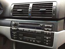 Carbon Fiber Look Interior Dash, Door and Shift Trim Kit fits BMW E46 sedan 325i
