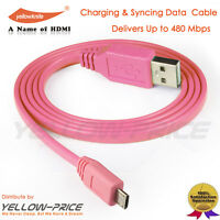 3.3Feet 26AWG USB 2.0 A Male to 5-pin micro-B Male Cable for Blackberry Passport