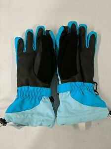 Lands' End Children's Squall Gloves Size Small Calypso Blue and Black - Preowned