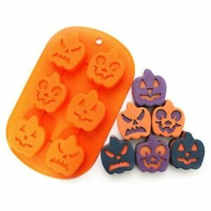 Halloween 6 Pumpkin Face Silicone mould Cupcake Muffin Soap Candle Resin Craft