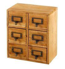 Handmade Wooden Shabby Storage Chest of 6 Drawers Organiser Cabinet Cupboard