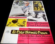 1968 The Thomas Crown Affair ORG RR76 SPAIN POSTER Steve McQueen Faye Dunaway