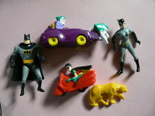 5 x McDonald's Happy Meal Batman Toys. 1993.