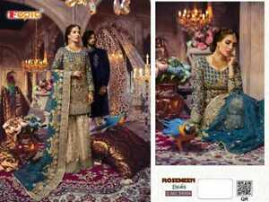 Indian anarkali salwar kameez suit designer bollywood ethnic Pakistani dress !1