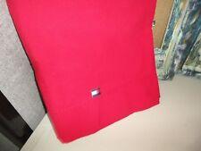 TOMMY HILFIGER CARDINAL RED QUEEN FLAT SHEET 100% COTTON BOYS 88 X 92