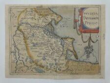 Prussia Preussen Polen Poland Gdansk Danzig Kupferstich Karte map Ortelius 1579