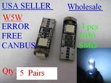 20x  Canbus LEDs  T10 194 W5W led Fit W204 C300 C350 eyelids  Cool White 6500K