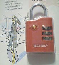 "NEW ""BELLE HOP"" TSA TRAVEL LOCK - 3 DIAL COMBO- CORAL - 7200"