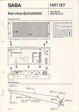 SABA - HiFi 127 - HiFi-Studio 8070 Stereo K - Service Schaltbild - B3100