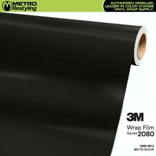 3M 2080 M12 MATTE BLACK Vinyl Vehicle Car Wrap Decal Film Sheet Roll