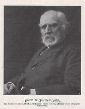 Werbung 1911, Hofrat Dr. Joseph v. Zahn, Nestor der österreichischen Archivare