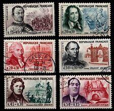 PIPOLES de 1961, Oblitérés = Cote 19 €  / Lot Timbres France n°1295 à 1300