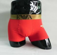 New Men's EA Armani Red Medium Trunk Boxer Shorts Underwear