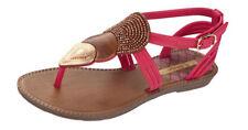 Chaussures roses moyens à boucle pour fille de 2 à 16 ans
