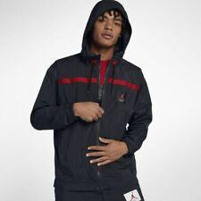 Nike Jordan Vêtements de Sport Ailes Vol Coupe-Vent L Noir Rouge Veste Capuche