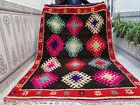 Handmade Moroccan Vintage Beni Ourain RugTribal Rug Azilal Wool Carpet