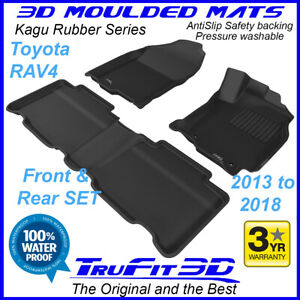 Fits Toyota Rav4 Rav 4 2013 - 2018 3D Rubber Floor Mats
