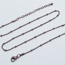 20 inch Chocolate Stainless Steel Station Ball Chain (PC109-C)