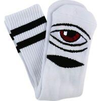 Toy Machine Socks Sect Eye White OSFM New Skateboard Sox